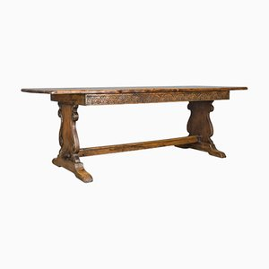 Antique Refectory Oak Table, 1900s