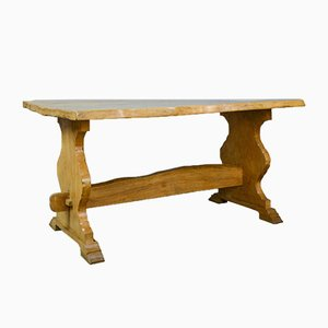 Antique Refectory Elm Dining Table, 1900s