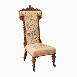 Antiker viktorianischer Sessel mit Gestell aus Palisander, 1850er