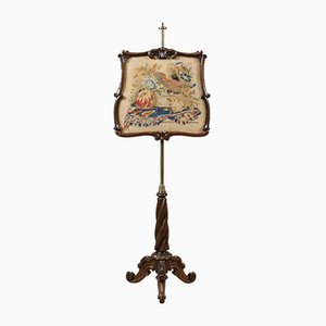 Antique Victorian Rosewood Fire Screen, 1840s