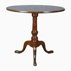 Antiker englischer Tisch aus Mahagoni mit kippbarer Tischplatte, 1800er