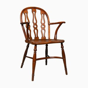 English Yew & Elm Windsor Chair from H.E. Goodchild, 1948