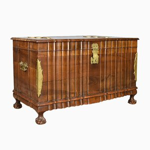Late 20th Century Bronze & Hardwood Trunk