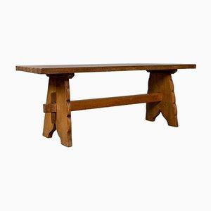 Arts & Crafts English Oak Bench