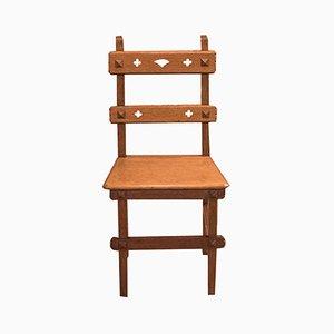 Antique Arts & Crafts English Oak Chair, 1900s