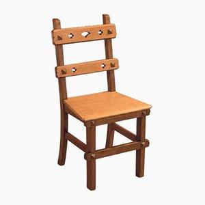 Antiker englischer Arts & Crafts Stuhl aus Eichenholz, 1900er