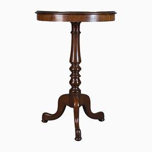 Antiker englischer Regency Weintisch aus Mahagoni, 1830er