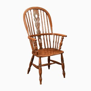 Antique Victorian Windsor Stick Back Chair, 1870s