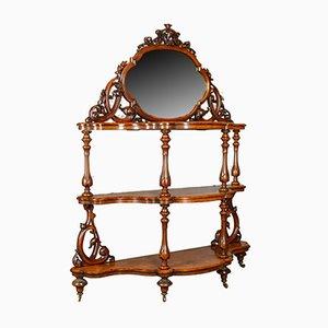 Antiker Spiegel aus Wurzel-Nussholz von Robert Strahan & Co., 1840er