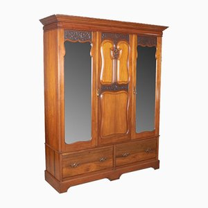 English Walnut Wardrobe from R. James Gloucester, 1900s