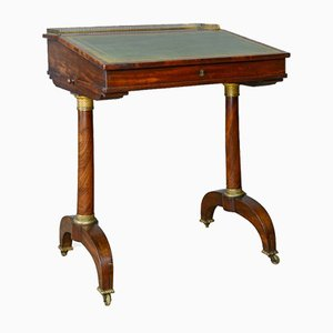 Antique English Mahogany Writing Table, 1820s