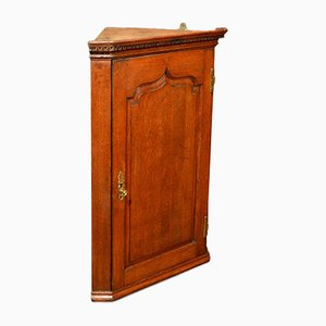 Antique Georgian Hanging Corner Cabinet, 1780s