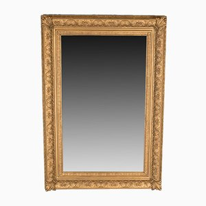 Large Antique Gilt Gesso Wall Mirror, 1880s