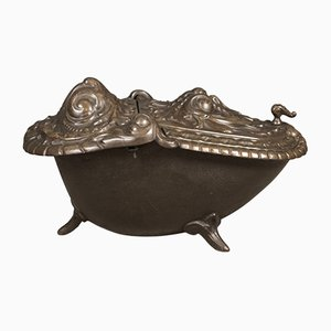 Antique Art Nouveau Coal Scuttle Fireside Bin, 1900s