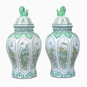 Vintage Decorative Baluster Spice Jars, Set of 2