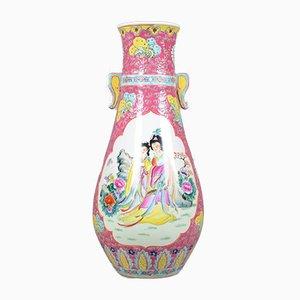 Große japanische Vintage Balustervase oder Urne aus Keramik