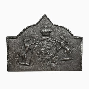 Tudor Revival Cast Iron Fire Back, 1890s