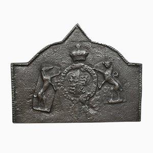 Tudor Revival Kaminplatte aus Gusseisen, 1890er