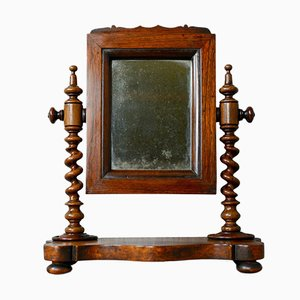 Small Antique Rosewood Platform Mirror, 1850s
