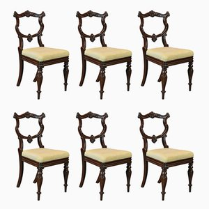 Antique William IV Rosewood Chairs, 1835, Set of 6