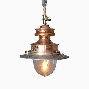 Antique English Gas Pendant Lamp, 1880s