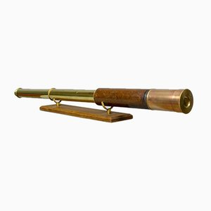 Antique Two-Draw Refractor Telescope from Stampa and Son
