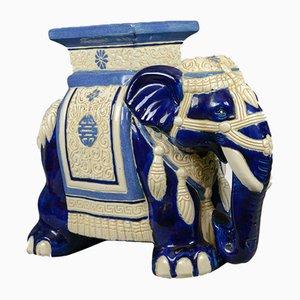 Soporte para plantas Mid-Century en forma de elefante de cerámica