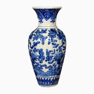 Antike chinesische Vase in Blau & Weiß