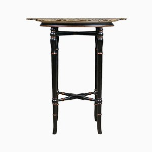 Vintage Italian Enameled & Ebonized Butlers Tray Table