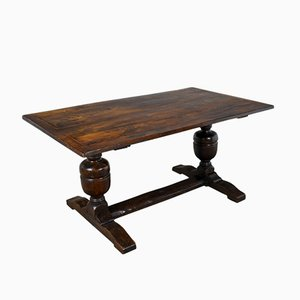Victorian Oak Refectory Table, 1880s