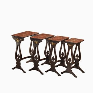 Victorian Nesting Tables Set, 1880s