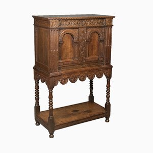 Antique Victorian Oak Livery Cupboard
