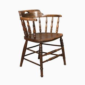 Antiker viktorianischer Sessel mit gebogener Rückenlehne, 1870er