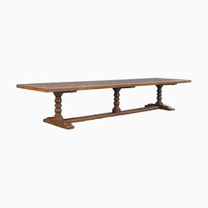 Large Antique English Jacobean Style Refectory Table