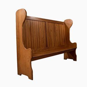 Mid-Century English Oak Pew Bench