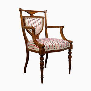 Antique Rosewood Elbow Chair, 1910s