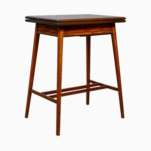 Antique Edwardian Fold-Over Card Table, 1910s