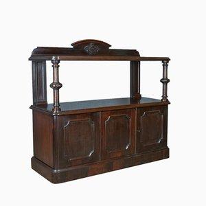 Antikes viktorianisches Sideboard aus Mahagoni, 1880er