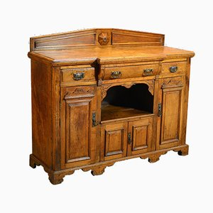 Antique Victorian Breakfront Sideboard