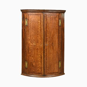 Antique Bow Fronted Corner Cabinet