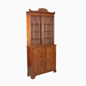 Antique Victorian Mahogany Bookcase, 1900s