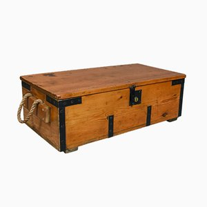 Antique Boat Builders Pitch Pine Chest