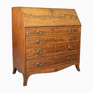 Antique English Mahogany Bureau, 1770s