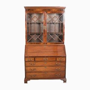 Antiker Büroschrank aus Mahagoni, 1800er