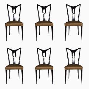 Italienische Vintage Esszimmerstühle, 1940er, 6er Set