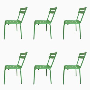 Metal Bistro Patio Chairs from Vega, 1990s, Set of 6
