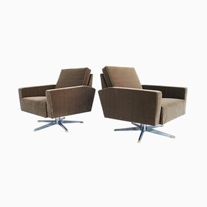 Mid-Century Swiss Lounge Chairs, Set of 2
