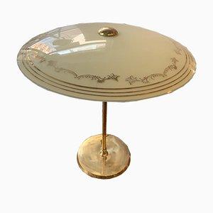 Lampada da tavolo vintage orientabile in vetro, anni '50