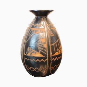 Vintage Swallow Vase von Charles Catteau für Boch Frères, 1920er