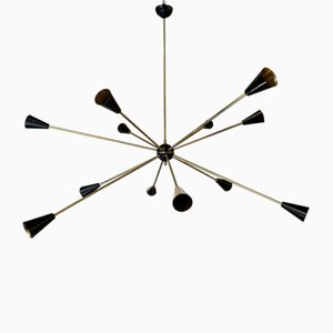 Sputnik Chandelier from Stilnovo, 1950s